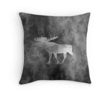 Dark Moose Art Throw Pillow