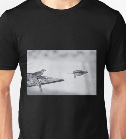 straight ahead..... Unisex T-Shirt