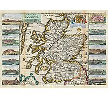 Vintage Map of Scotland (1747) Photographic Print