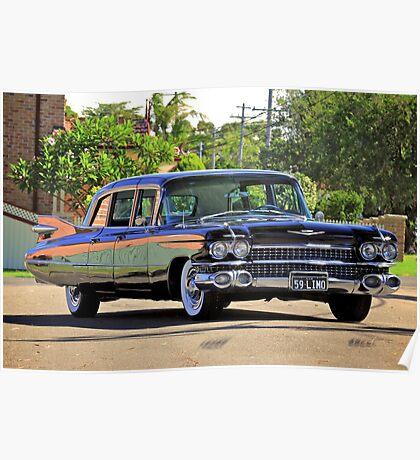 '59 Cadillac Fleetwood Limo Poster