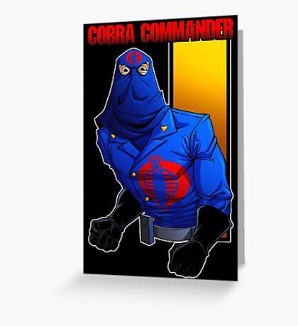 Cobra Commander Greeting Card