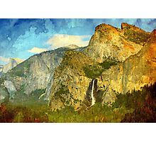 A scenic view of Yosemite National Park Photographic Print