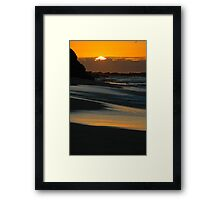 sunrise at bar beach Framed Print