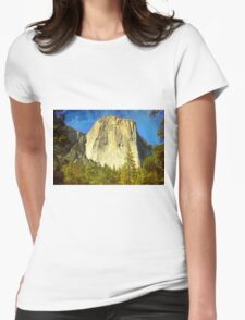 A scenic view of Yosemite National Park Womens Fitted T-Shirt