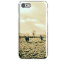 Draft Horses In A Pasture iPhone Case/Skin