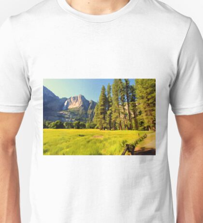 A scenic view of Yosemite National Park Unisex T-Shirt