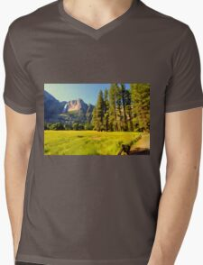 A scenic view of Yosemite National Park Mens V-Neck T-Shirt