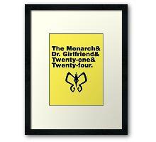 Team Monarch Framed Print
