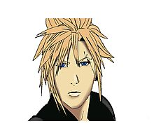 Cloud Strife Drawing Photographic Print