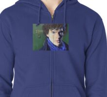 Benedict Cumberbatch as Sherlock Design 2 Zipped Hoodie