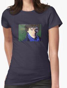 Benedict Cumberbatch as Sherlock Design 2 Womens Fitted T-Shirt