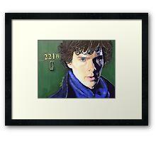 Benedict Cumberbatch as Sherlock Design 2 Framed Print