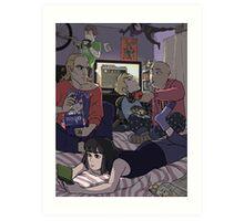 Super Sleepover Art Print