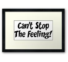 Justin Timberlake - Can't Stop The Feeling - Trolls Framed Print