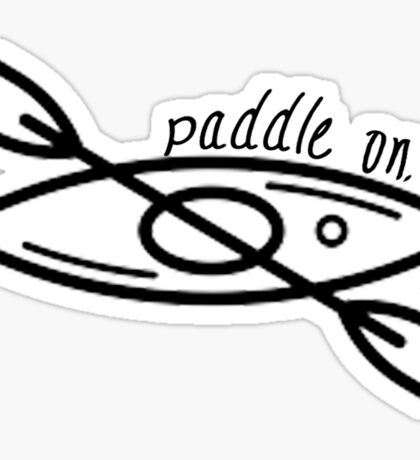 Kayak - Paddle On Sticker
