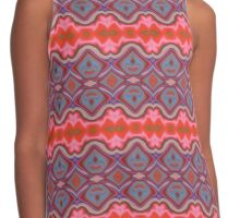 Summer Splash - Coral and Blue Contrast Tank