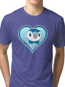 Piplup Heart Tri-blend T-Shirt