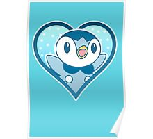 Piplup Heart Poster