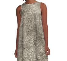 Aluminum Oil Painting Color Accent A-Line Dress