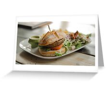 food restaurant kitchen meat Greeting Card