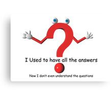 Question Mark Humor Canvas Print