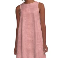 Rosette Oil Pastel Color Accent A-Line Dress