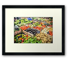food healthy vegetables potatoes Framed Print
