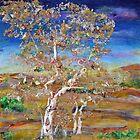 Solace - mixed media birches by Regina Valluzzi