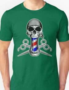 Barber Skull and Scissors Unisex T-Shirt