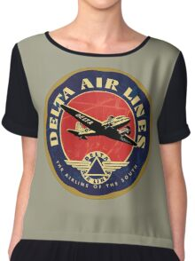 Delta Airlines Vintage USA Chiffon Top