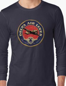 Delta Airlines Vintage USA Long Sleeve T-Shirt