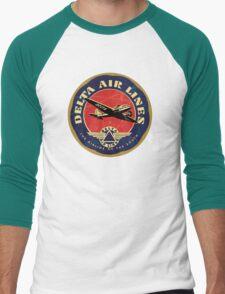 Delta Airlines Vintage USA Men's Baseball ¾ T-Shirt