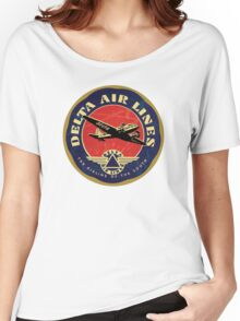 Delta Airlines Vintage USA Women's Relaxed Fit T-Shirt
