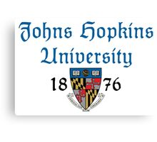 Johns Hopkins University-Gothic Text Canvas Print