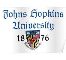 Johns Hopkins University-Gothic Text Poster