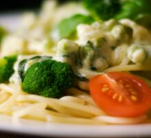 food dinner pasta broccoli Sticker