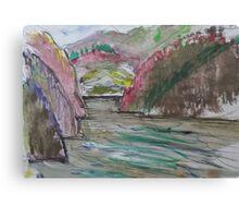 KAYAK GOING STRONG(SKETCH) (C2016) Canvas Print