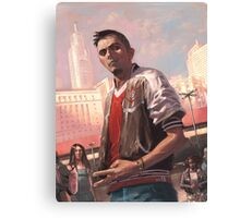 The soccer jacket guy Canvas Print
