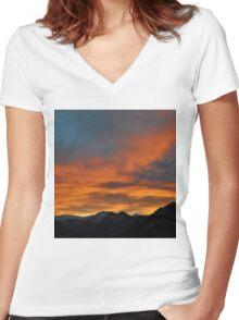 Austrian Sunset Women's Fitted V-Neck T-Shirt