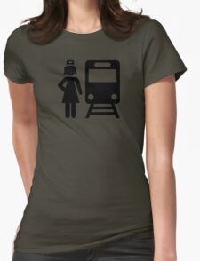 Train attendant Womens Fitted T-Shirt