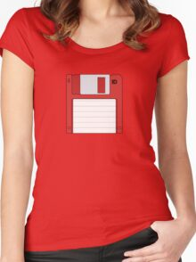 """3.5"""" HD Floppy Disc (Red)  Women's Fitted Scoop T-Shirt"""