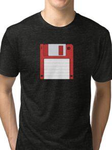 "3.5"" HD Floppy Disc (Red)  Tri-blend T-Shirt"