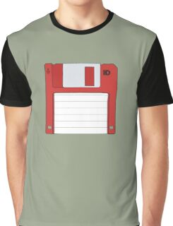 "3.5"" HD Floppy Disc (Red)  Graphic T-Shirt"