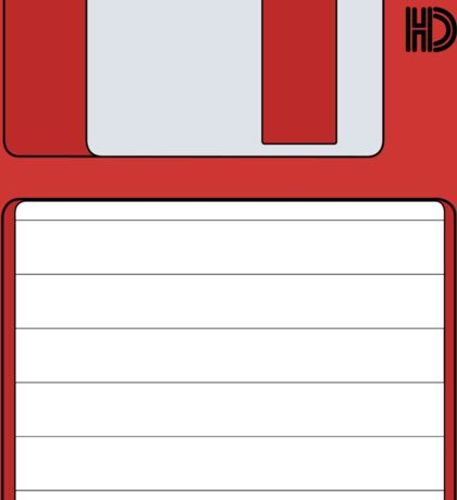 """3.5"""" HD Floppy Disc (Red)  Sticker"""
