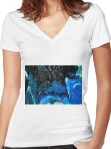 Dark Crystal Ice Women's Fitted V-Neck T-Shirt