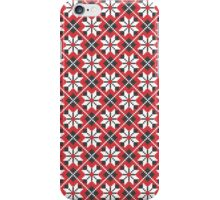 Red and black seamless cross-stitch pattern iPhone Case/Skin