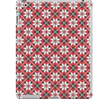 Red and black seamless cross-stitch pattern iPad Case/Skin