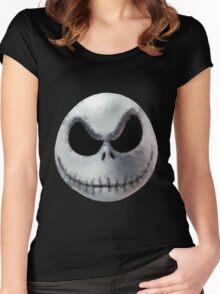 Polygon Art : Jack Skellington Women's Fitted Scoop T-Shirt