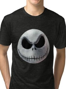 Polygon Art : Jack Skellington Tri-blend T-Shirt