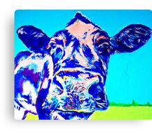 Blue Cheese Dairy Cow Canvas Print